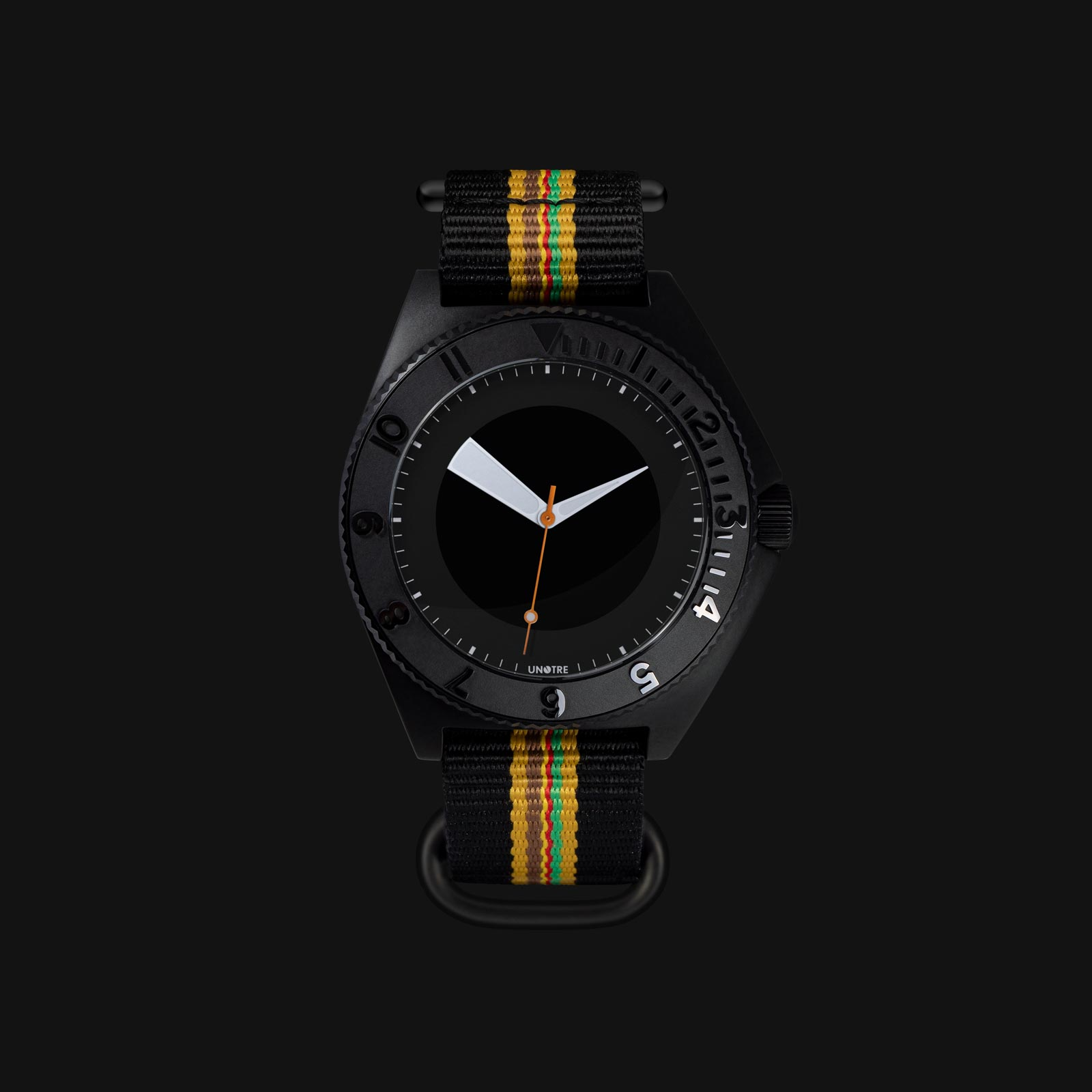 Electronic watch UNOTRE - Black version